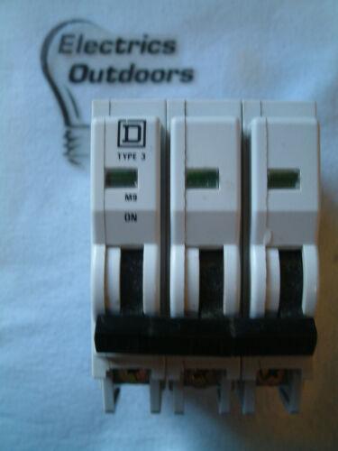 9 BS 3871 Square D 10 amp type 3 M9 triple pole RCM disjoncteur QoE qo310e3
