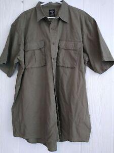 Red-Head-Redhead-Men-039-s-Khaki-100-Cotton-Button-Down-Short-Sleeve-Shirt-Sz-2XL