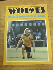31/01/1981 Wolverhampton Wanderers v West Bromwich Albion  (Sellotape Repair On