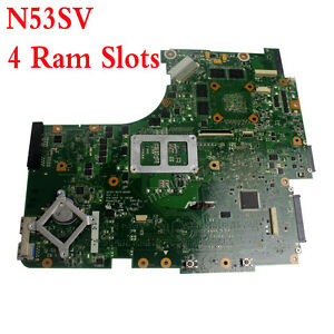 Details about For Asus N53SV N53SM N53SN Laptop Motherboard 4 Ram Slots  GT540M REV2 2 HM65