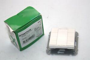 Schneider-Electric-KNX-MTN617419-Push-Button-4-gang-Plus-Polar-White-Glossy