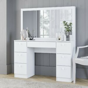 Boahaus-Artemisia-Modern-Vanity-Table-with-Mirror-and-7-Drawers-White-finish