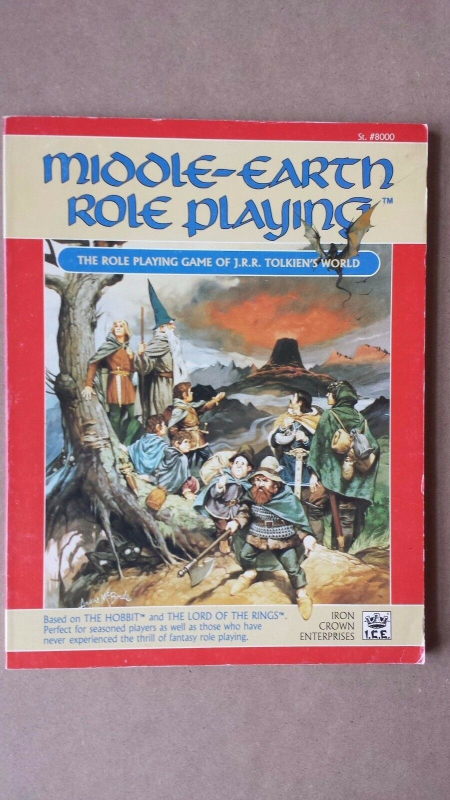 UNUSED MERP Middle Earth Middle-Earth Role Playing Rulebook Guidebook 8000 MINT