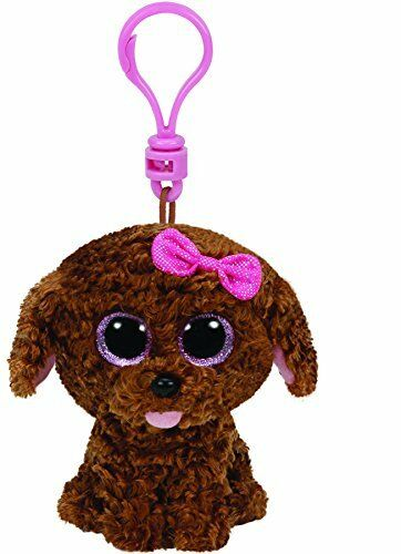 TY Beanie Boos Clip Ons - Curly Brown Dog Plush