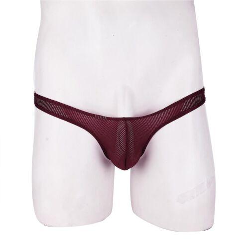 Mens Mesh Jockstrap Briefs Underwear See-through Pouch Bikini Lingerie G String