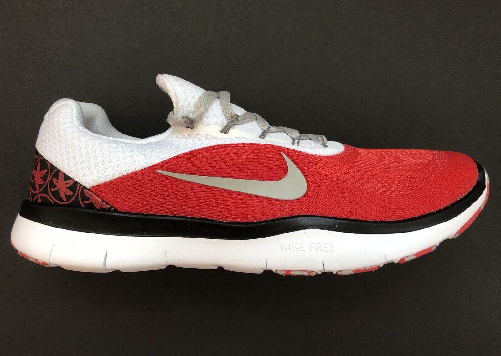 Nike Ohio State Buckeyes Free Trainer V7 Week Zero Shoes AA0881-605 Size 9.5