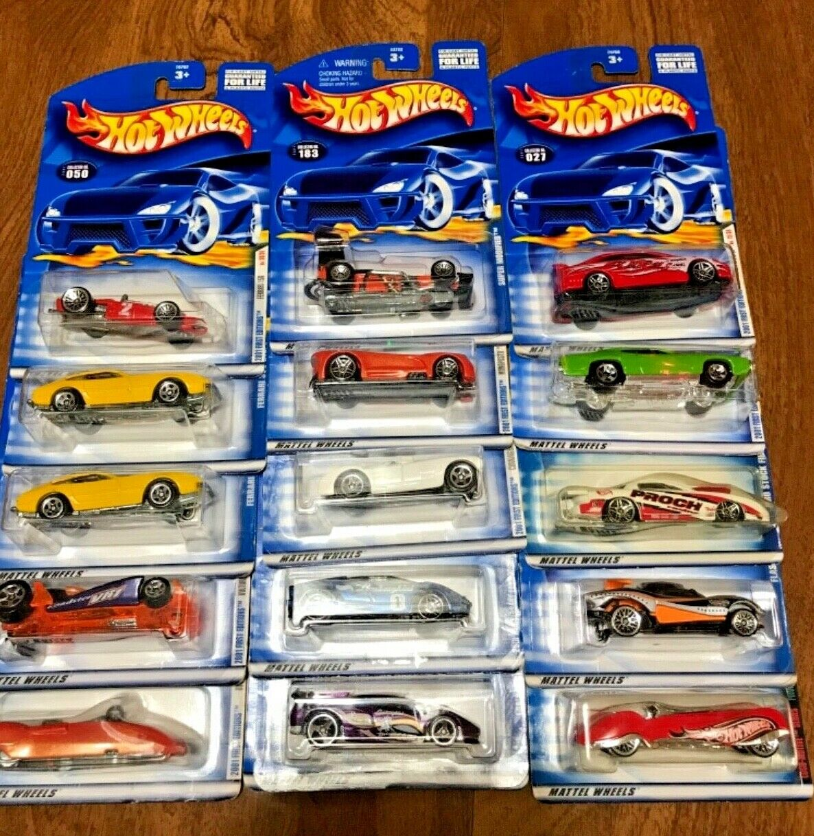 Hot Wheels LOT OF 15 MIXED Random Cars Mint on cards from 2000