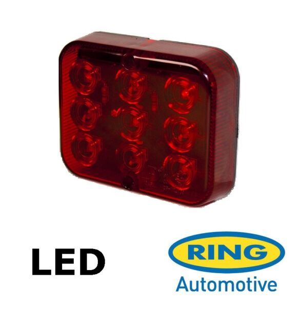 Red Auxiliary LED Rear Fog Lamp Light Unit E Approved Trailer Car Caravan Towing