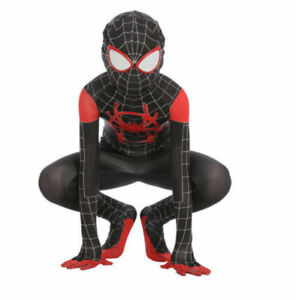 Spider Man Into The Spider Verse Miles Morales Kids Cosplay Costume
