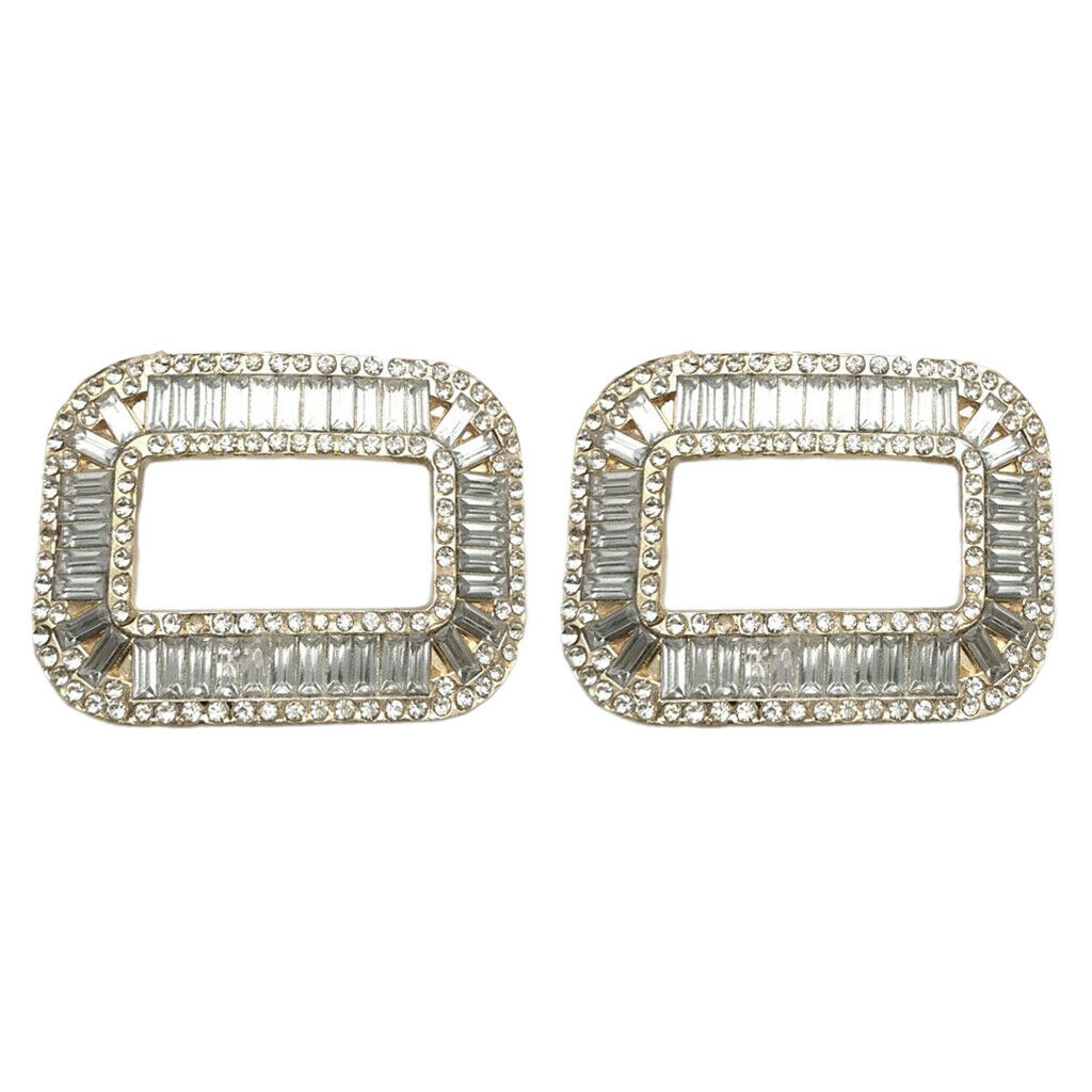 Women Silver Rhinestone Wedding Shoe Clips with Buckle for Wedding Shoes