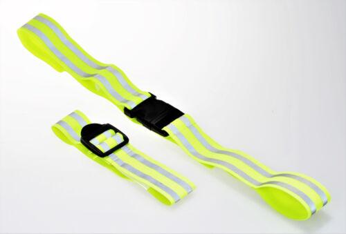 Filmer 40.132 Fahrrad Freizeit Reflektorband Set 2tlg // Sicherheitsband gelb