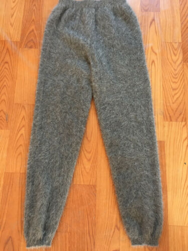 Women and men winter mink cashmere knitted trousers thick warm pants  P18225