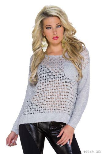 maglione donna Pullover Uk Cardigan Top Taglia colori Elegante disponibili grigio kaki 10 Abbigliamento Talpa 1gqwxEE