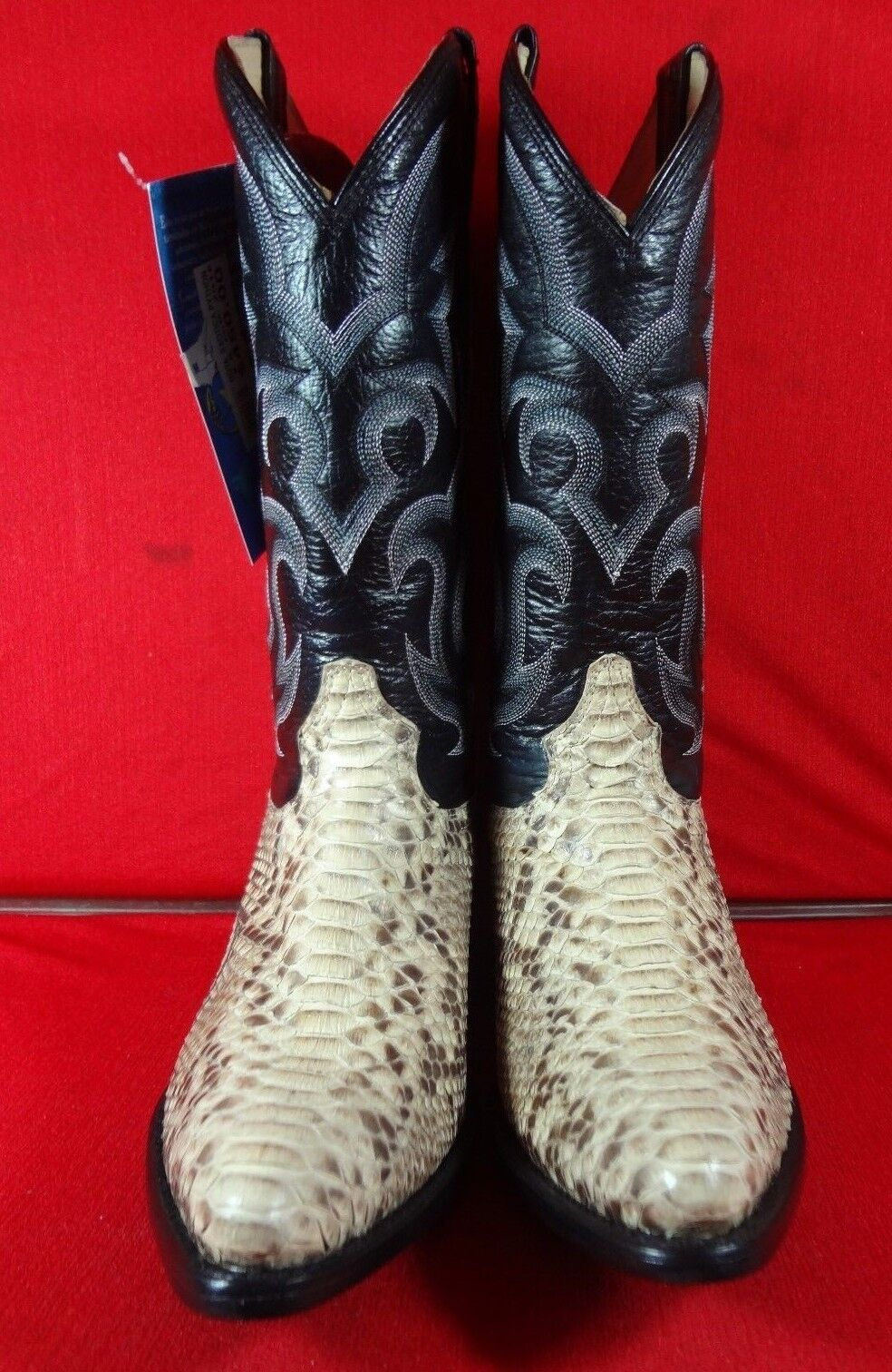 New uomo Real Python Snake Skin Genuine Leather Cowboy stivali Rodeo Western C95