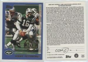 Details about 2000 Topps MVP Promotion Sweepstakes Entry Vinny Testaverde  New York Jets Card