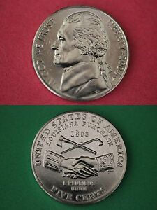 """2004 D Jefferson /""""Keelboat/"""" Nickel in Mint Cello ~ Uncirculated from Mint Set"""