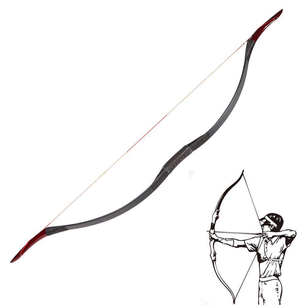 45Lbs tiro con arco tradicional recurvo arco caza práctica 55  larga Horsebow Target