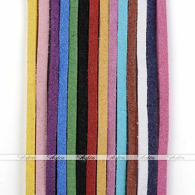 9.14m 2mm PU Leather Cord Soft Suede Leather Velvet Thread Bracelet Necklace DIY
