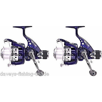 2 TECTONIC 7500 REELS+LINE FIXED SPOOL REAR DRAG SEA FISHING SPINNING TACKLE