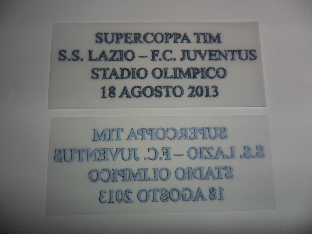 LAZIO JUVENTUS PATCH RICAMO PER MAGLIA FINALE SUPERCOPPA ITALIANA 2013  30
