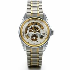 Men's Business Skeleton Automatic Mechanical Stainless Steel Band Wrist Watch