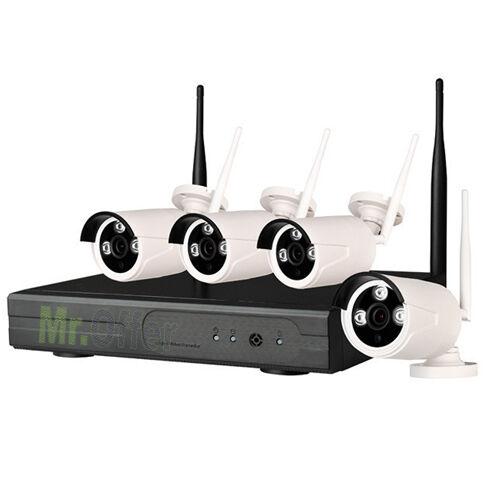 Videosorveglianza wireless IP DVR 4 canali 1080P 4 telecamere 2.0 MPX WIFI