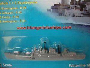 P 745 HMS Birmingham D86 1:1200 scale Tri-ang ships minic