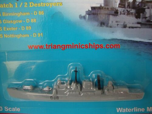P 745 HMS Glasgow D88 1:1200 scale Tri-ang ships minic