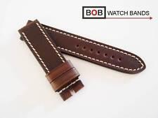 - BOB ECHTLEDERUHRBAND Kollektion MARINO HANDMADE PREMIUM 22 mm CHOCOLATE Braun