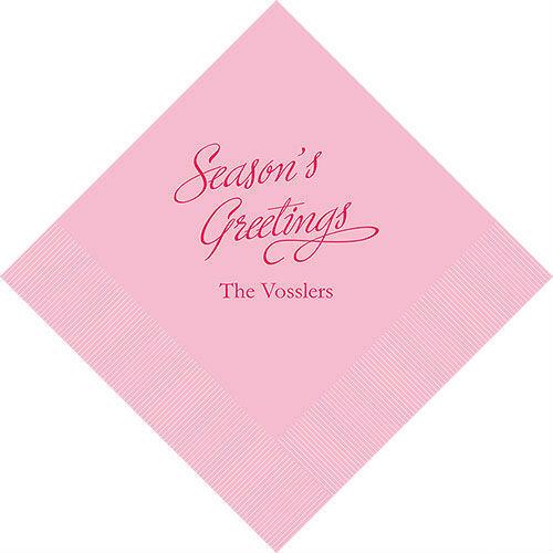 500 Seasons Greetings Personalizado cóctel Servilletas