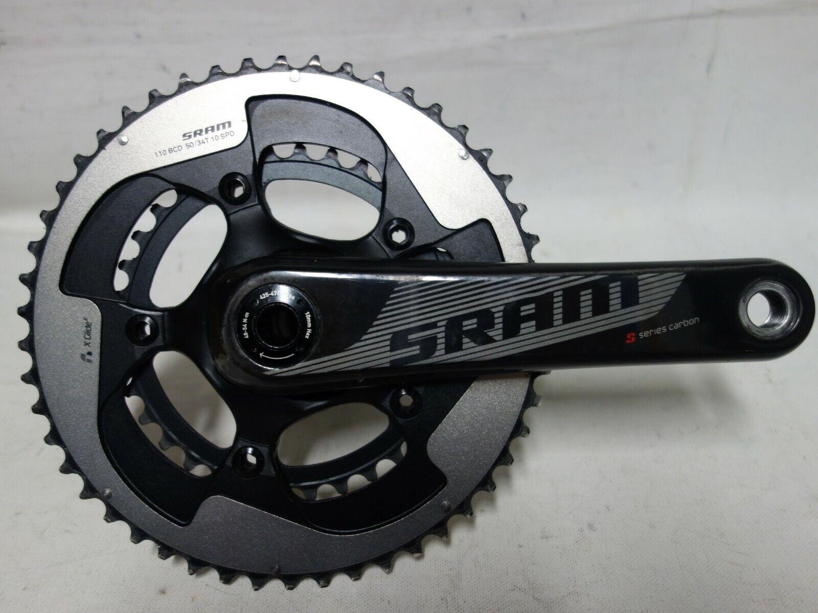 NEW SRAM Force22 Yaw GXP Carbon Road Bike Crankset 172.5mm 50//34T 11 Spd w//o BB