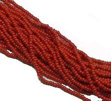 Opaque Dark Red Czech 11/0 Glass Seed Beads 1 (6 String Hank) Preciosa