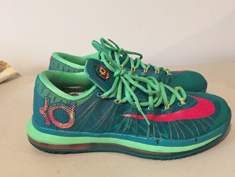 Nike Men Basketball Shoes 9  Elite Hero KD Turbo Green/Pink 642838-300