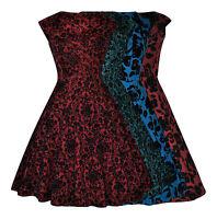 Vintage 50's Flocked Embossed Flared Swing Rockabilly Cocktail Dress 8 - 24