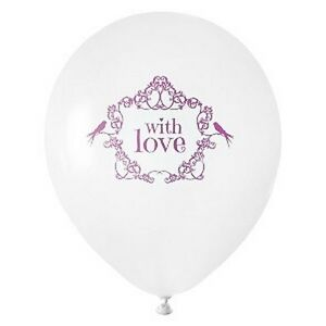 Ballon-Mariage-Vintage-034-With-Love-034-Rose