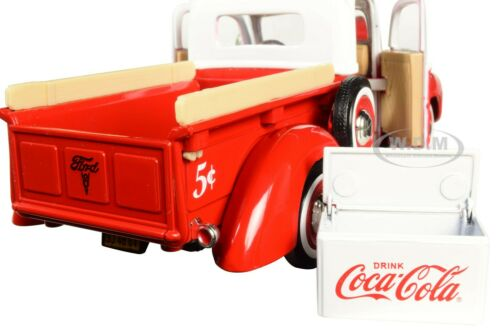 """1940 FORD PICKUP TRUCK RED W//COOLER /""""COCA-COLA/"""" 1//24 MOTORCITY CLASSICS 424040"""