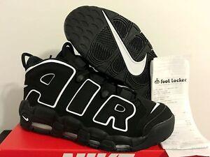 2016-Nike-Air-More-Uptempo-Black-White-414962-002-DS-Pippen-Size-4Y-15-GS-MEN