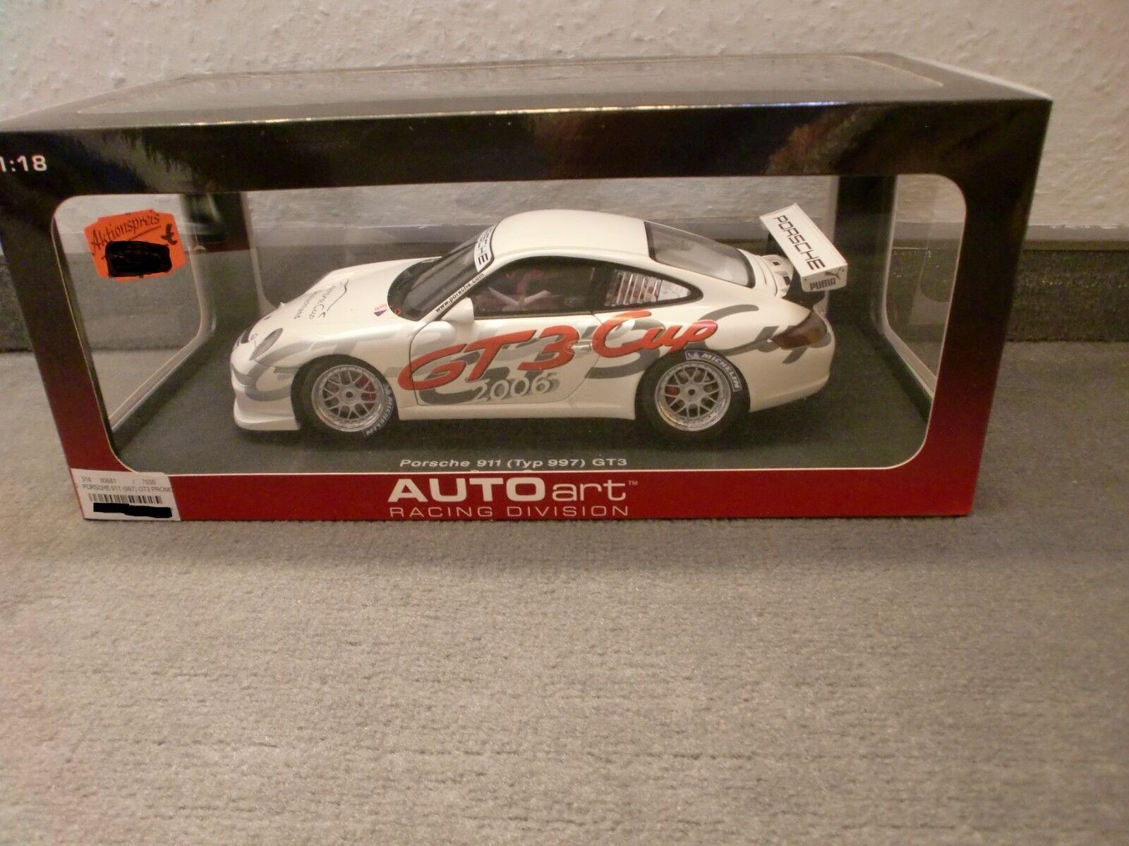 Porsche 911 (997) gt3, Promo Cup, 2006, Autoart, nuevo, 1 18