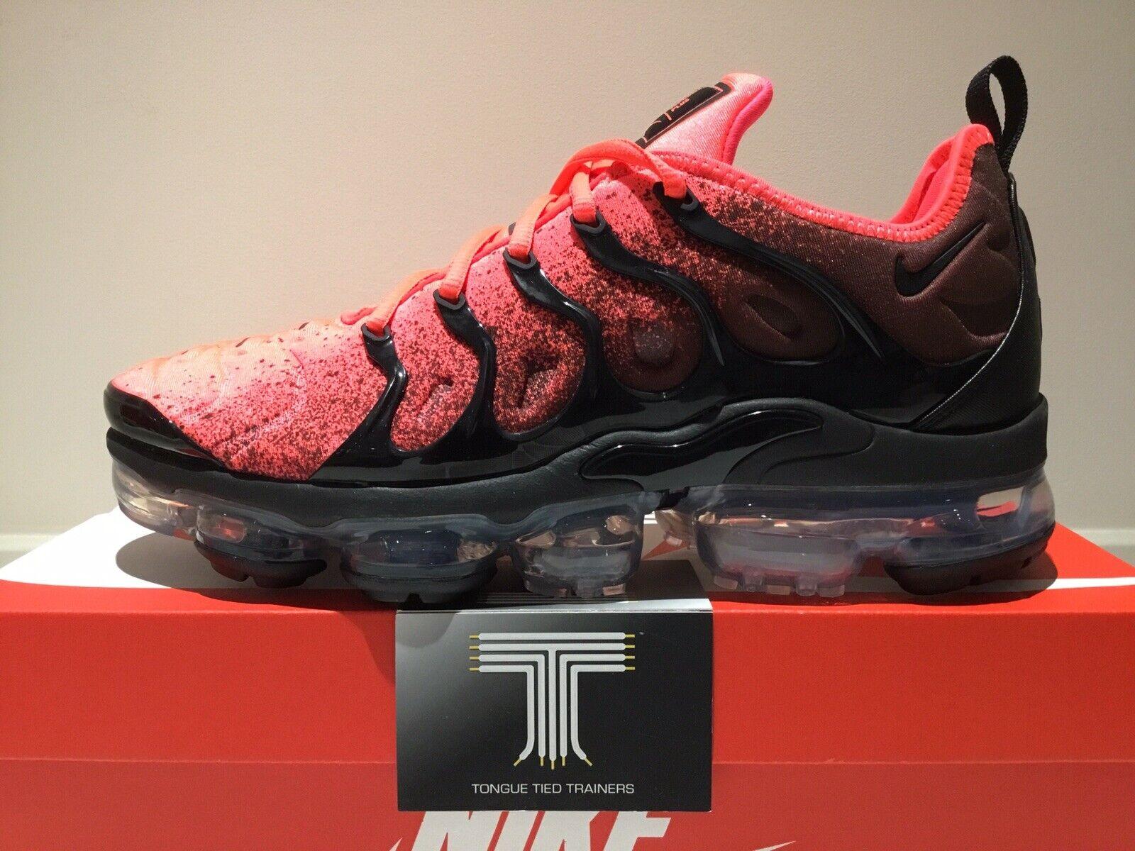 "Nike Air Vapormax Plus ""Flash Crimson"" CJ0642 001  Uk Größe 10.5"