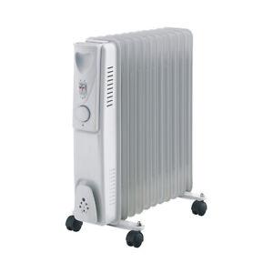 Lenoxx 2400W Electric Convection/Radiant 11 Fin Oil Column Heater w/Castors WHT