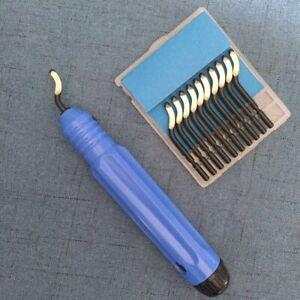Utensile-sbavatura-per-fori-NB1100-manico-10-lame-Sbavatore-a-mano-BS1010-S10