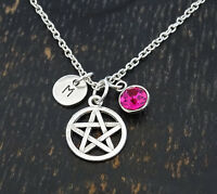 Pentagram Necklace, Pentagram Charm, Pentagram Jewelry, Gothic, Personalized