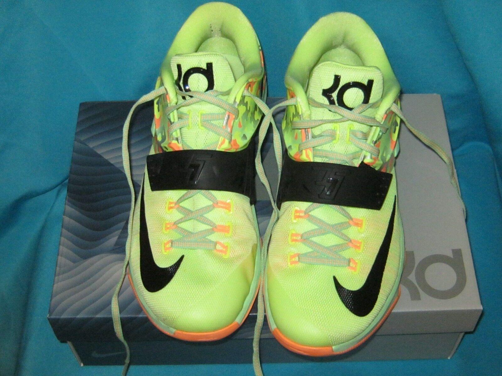 Nike kd vii 7 ostern flüssigkeit kalk viper schwarze grüne schwarze viper sonnenuntergang glo 653996 304 größe 11. 881348