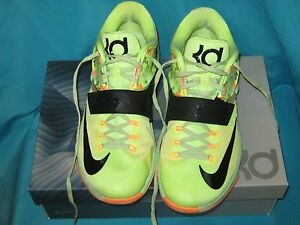 pretty nice 8786d 5cac8 Image is loading NIKE-KD-VII-7-EASTER-LIQUID-LIME-VIPER-