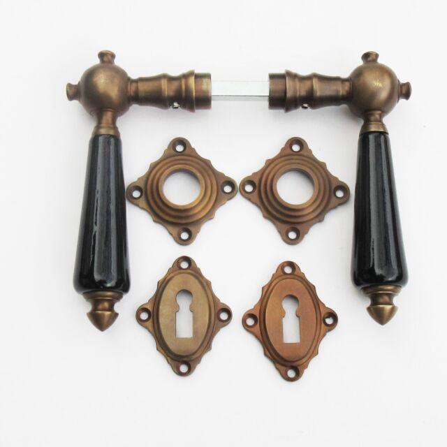 Türklinken Jugendstil Art Deco Messing - Bronze #64-BB-BS