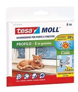 Tesa Moll Guarnizione X Porte E Finestre Profilo E In Gomma 6mt Spessore 1-3,5mm Fabrication Habile