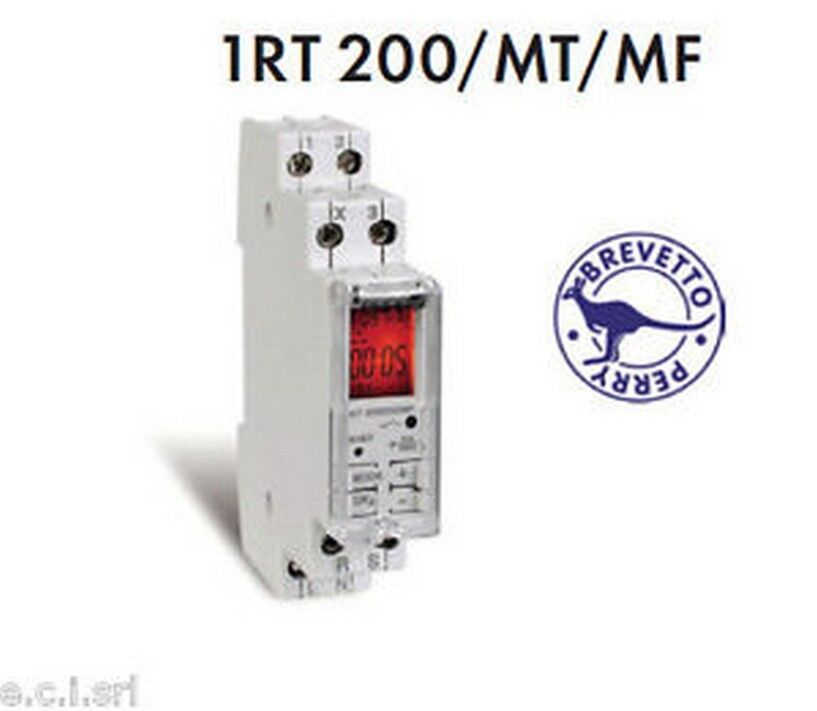 1RT 200 MT MF Relay timed multi-voltage multifunction with display 1 DIN