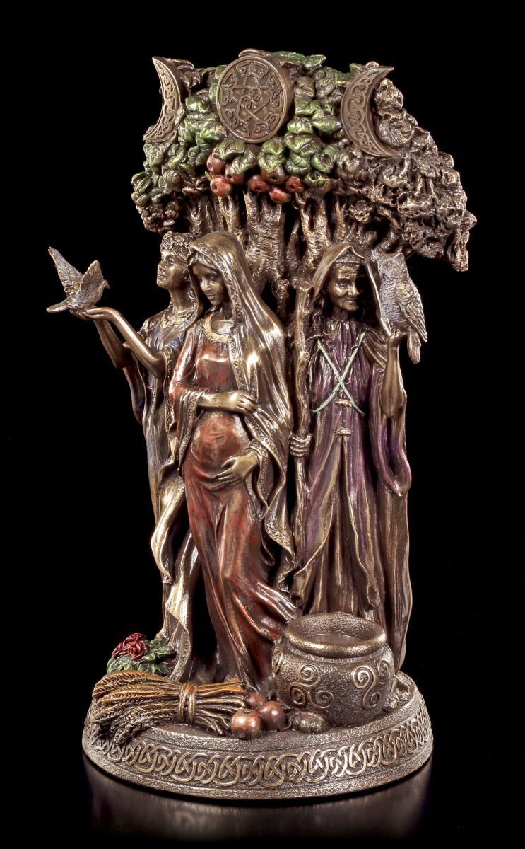Dreifaltigkeits Göttin Figur - Altes Weib, Mutter & Jungfrau Jungfrau Jungfrau - Veronese Statue 3ad679