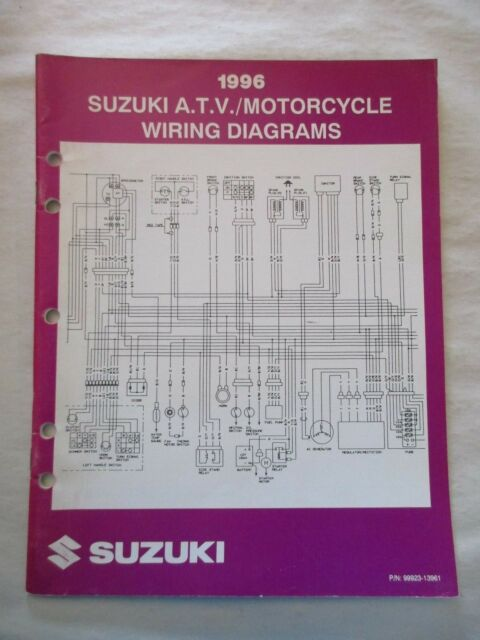 1996 Suzuki Atv    Motorcycle Wiring Diagram Manual Pn