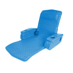TRC Recreation Super Soft Adjustable Pool Lounge Recliner Float, Bahama Blue